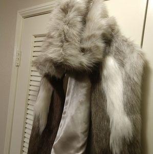 • Faux Fur Vest with Hood •